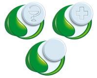 Símbolos de la medicina natural Foto de archivo libre de regalías
