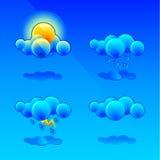 Símbolos de la meteorología Imagen de archivo libre de regalías
