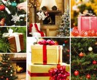 Símbolos de la Navidad Foto de archivo libre de regalías
