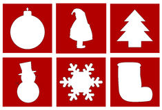 Símbolos de la Navidad Imagenes de archivo