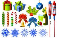 Símbolos de la Navidad Imagen de archivo libre de regalías