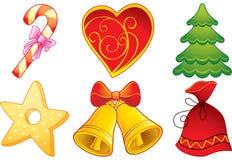 Símbolos de la Navidad Foto de archivo