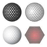 Símbolos de la pelota de golf Imagenes de archivo