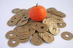 Símbolos de la prosperidad en Asia Imagen de archivo libre de regalías