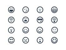 Símbolos de la sonrisa ilustración del vector