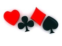 Símbolos de la tarjeta Imagen de archivo libre de regalías