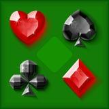 Símbolos de la tarjeta de la joya del vector Foto de archivo libre de regalías