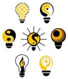 Símbolos de las bombillas Foto de archivo libre de regalías