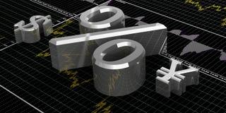 Símbolos de las finanzas Stock de ilustración