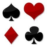 Símbolos de las tarjetas que juegan Imagen de archivo libre de regalías