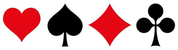 Símbolos de las tarjetas que juegan Fotografía de archivo