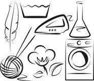 Símbolos de lavagem Foto de Stock