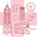 Símbolos de Londres Imagens de Stock
