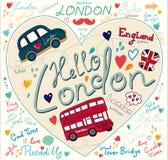Símbolos de Londres ilustração stock