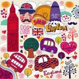 Símbolos de Londres ilustración del vector