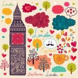 Símbolos de Londres Imagens de Stock Royalty Free