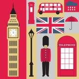 Símbolos de Londres Imágenes de archivo libres de regalías