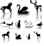 Símbolos de los animales Fotos de archivo libres de regalías