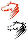 Símbolos de los caballos Imagen de archivo libre de regalías