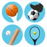 Símbolos de los deportes Fotos de archivo