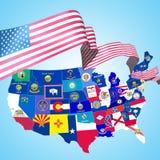 Símbolos de los E.E.U.U. Foto de archivo libre de regalías