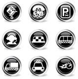 Símbolos de los servicios del taxi Imagen de archivo