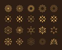 Símbolos de Lotus Fotografia de Stock