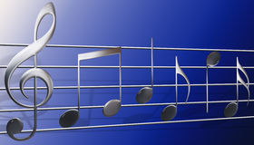 Símbolos de música Imagens de Stock