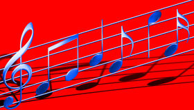 Símbolos de música Fotos de Stock