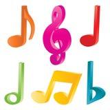 Símbolos de música Imagen de archivo
