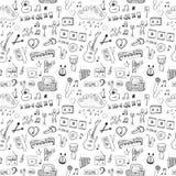 Símbolos de música ilustração stock