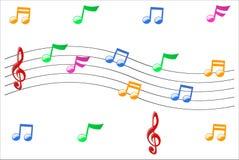 Símbolos de música Ilustração Royalty Free