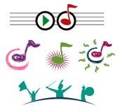 Símbolos de música Imagenes de archivo