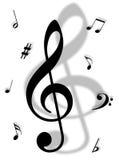 Símbolos de música Foto de archivo libre de regalías