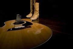 Símbolos de música country Fotos de archivo libres de regalías