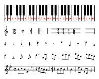 Símbolos de música de hoja Fotos de archivo