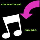 Símbolos de música de la transferencia directa Imagen de archivo