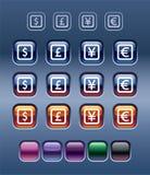 Símbolos de moeda Fotografia de Stock Royalty Free