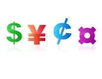 Símbolos de moeda Foto de Stock Royalty Free