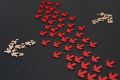Símbolos de moeda da seta fotografia de stock royalty free