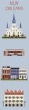 Símbolos de Nova Orleães Imagem de Stock Royalty Free