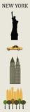 Símbolos de Nueva York. Imagenes de archivo