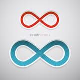 Símbolos de papel da infinidade do vetor Imagem de Stock Royalty Free