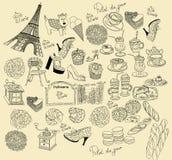 Símbolos de París stock de ilustración