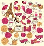 Símbolos de Paris Imagem de Stock