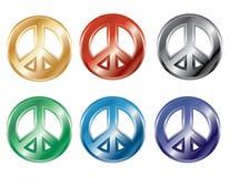 símbolos de paz 3D Imagen de archivo libre de regalías