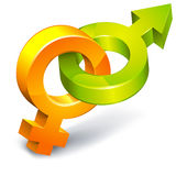 Símbolos de sexo Fotos de Stock