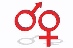 Símbolos de sexo ilustración del vector