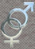 Símbolos de sexo Foto de archivo libre de regalías