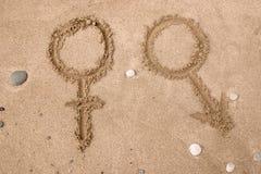 Símbolos de sexo imagens de stock royalty free